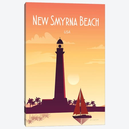 New Smyrna Beach Canvas Print #OES18} by Omar Escalante Canvas Artwork
