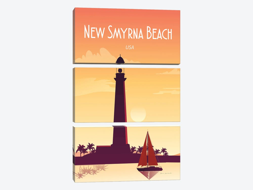 New Smyrna Beach 3-piece Canvas Art