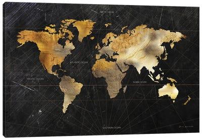 Dramatic World Map Canvas Art Print