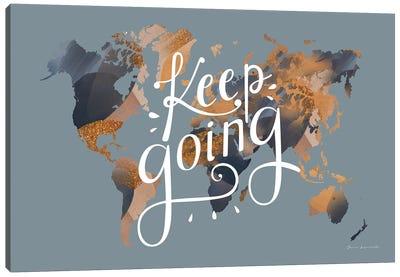 Keep Going World Map Canvas Art Print