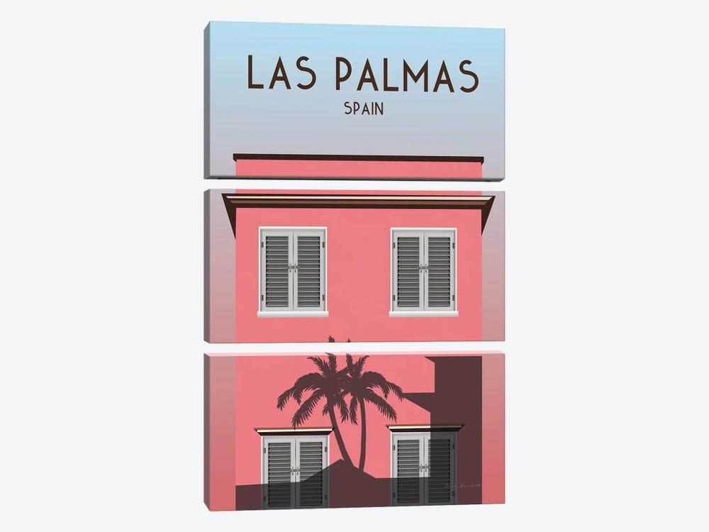 Las Palmas by Omar Escalante 3-piece Canvas Wall Art
