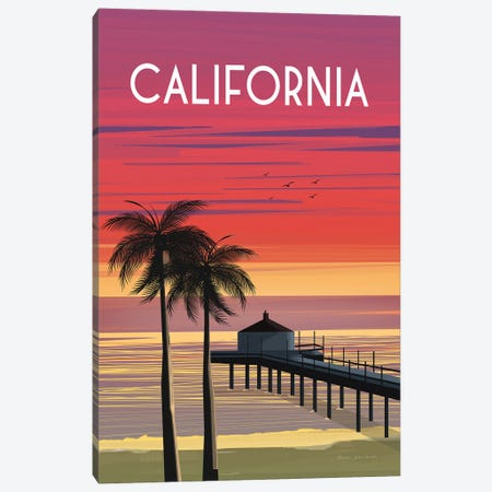 California Canvas Print #OES6} by Omar Escalante Canvas Print