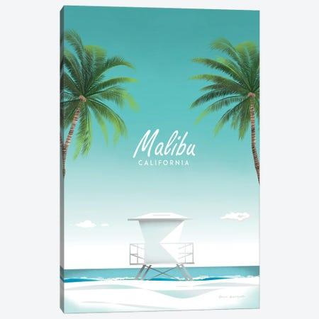 Malibu Canvas Print #OES7} by Omar Escalante Canvas Print