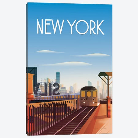 New York City Canvas Print #OES8} by Omar Escalante Canvas Wall Art