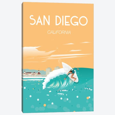 San Diego Canvas Print #OES9} by Omar Escalante Canvas Art