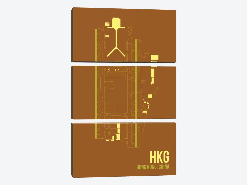 Hong Kong by 08 Left 3-piece Canvas Artwork