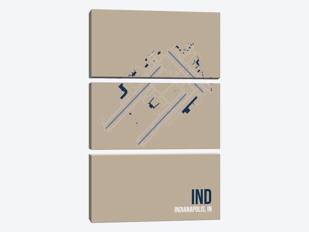 Indianapolis by 08 Left 3-piece Canvas Art Print