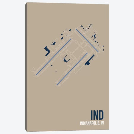Indianapolis Canvas Print #OET103} by 08 Left Art Print