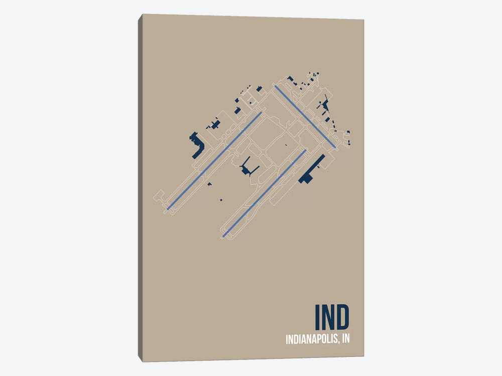 Indianapolis by 08 Left 1-piece Art Print