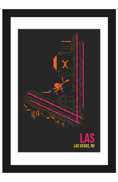 Las Vegas (McCarran) Framed Art Print