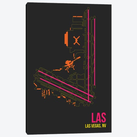 Las Vegas (McCarran) Canvas Print #OET105} by 08 Left Canvas Wall Art