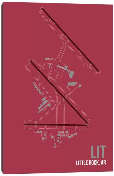 Airport Diagram Series: Little Rock (Clinton) Canvas Art Print