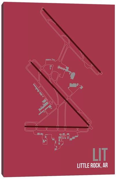Airport Diagram Series: Little Rock (Clinton) Canvas Print #OET106
