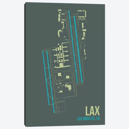 Los Angeles Canvas Print #OET108} by 08 Left Canvas Art Print