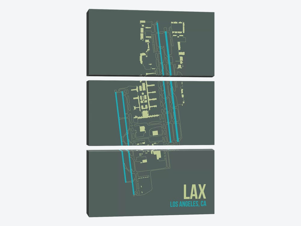 Los Angeles by 08 Left 3-piece Canvas Wall Art