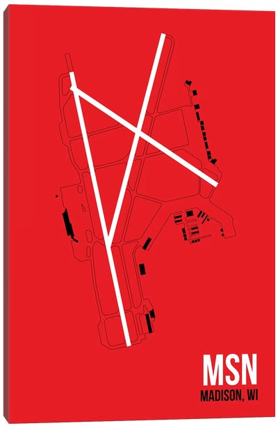 Airport Diagram Series: Madison (Dane County) Canvas Print #OET111