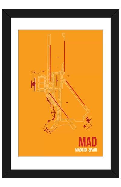 Madrid (Adolfo Suárez Madrid–Barajas) Framed Art Print