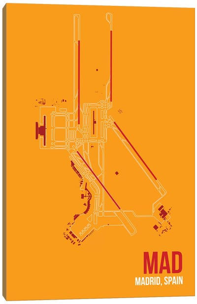 Airport Diagram Series: Madrid (Adolfo Suárez Madrid–Barajas) Canvas Print #OET112