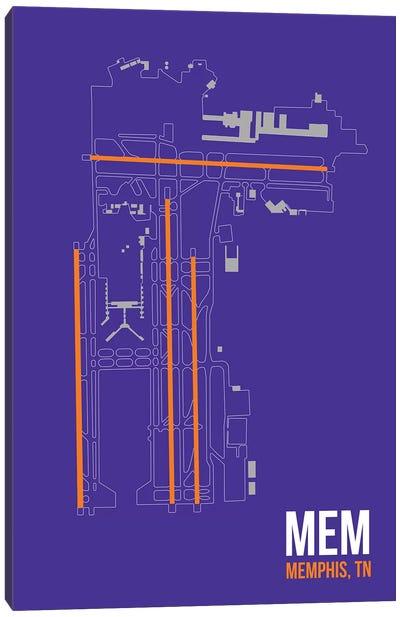 Airport Diagram Series: Memphis Canvas Print #OET113