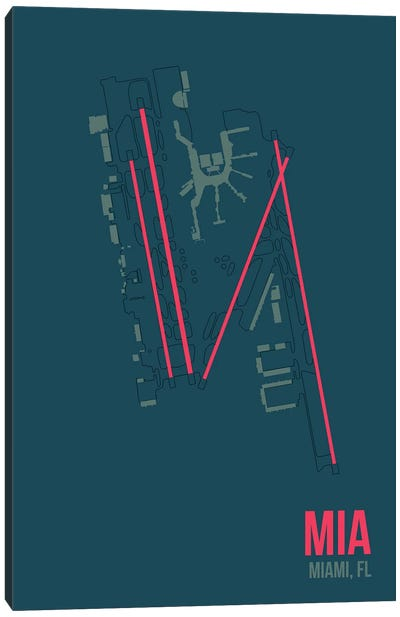 Airport Diagram Series: Miami Canvas Print #OET114