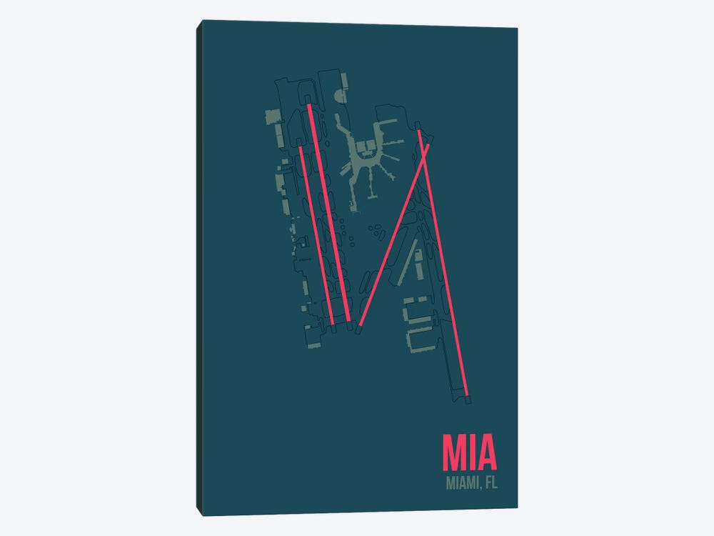 Miami by 08 Left 1-piece Canvas Print