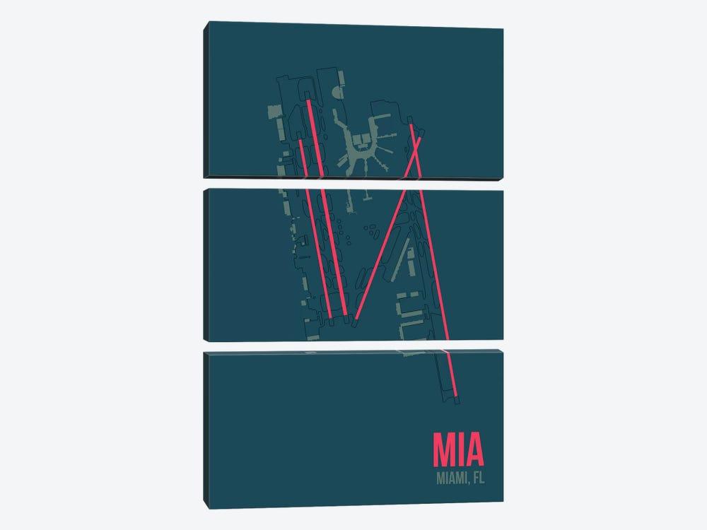 Miami by 08 Left 3-piece Canvas Art Print