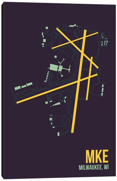 Airport Diagram Series: Milwaukee (General Mitchell) Canvas Print #OET115
