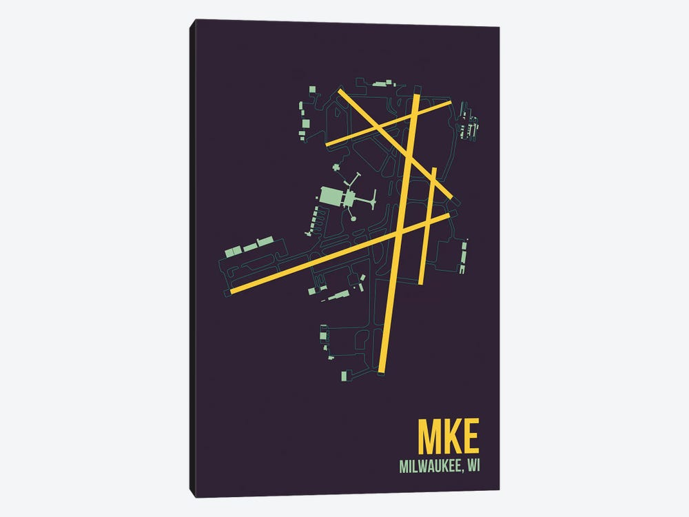 Milwaukee (General Mitchell) by 08 Left 1-piece Canvas Art