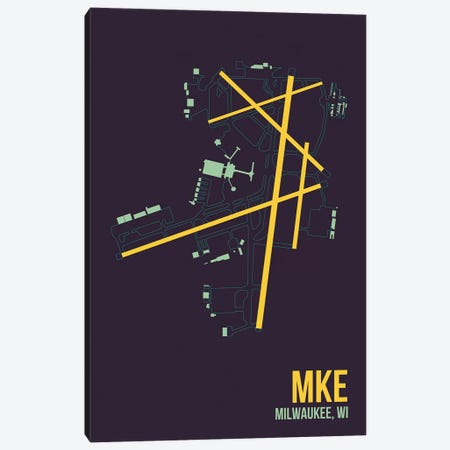 Milwaukee (General Mitchell) 3-Piece Canvas #OET115} by 08 Left Canvas Print