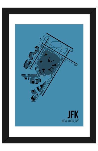 New York (JFK) Framed Art Print