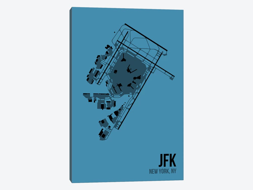 New York (JFK) by 08 Left 1-piece Canvas Wall Art