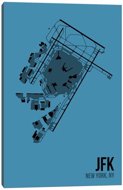Airport Diagram Series: New York (JFK) Canvas Print #OET119