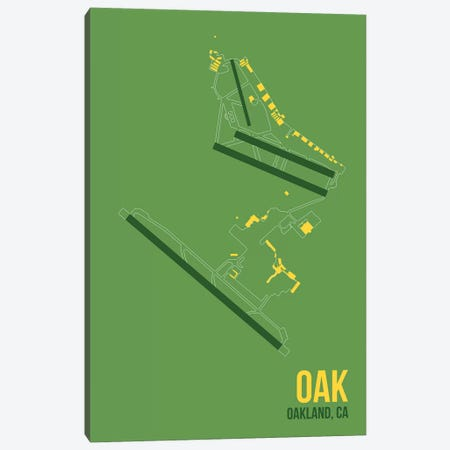 Oakland Canvas Print #OET121} by 08 Left Canvas Print