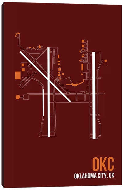 Airport Diagram Series: Oklahoma City (Will Rogers) Canvas Print #OET122