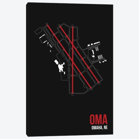 Omaha (Eppley) Canvas Print #OET123} by 08 Left Art Print