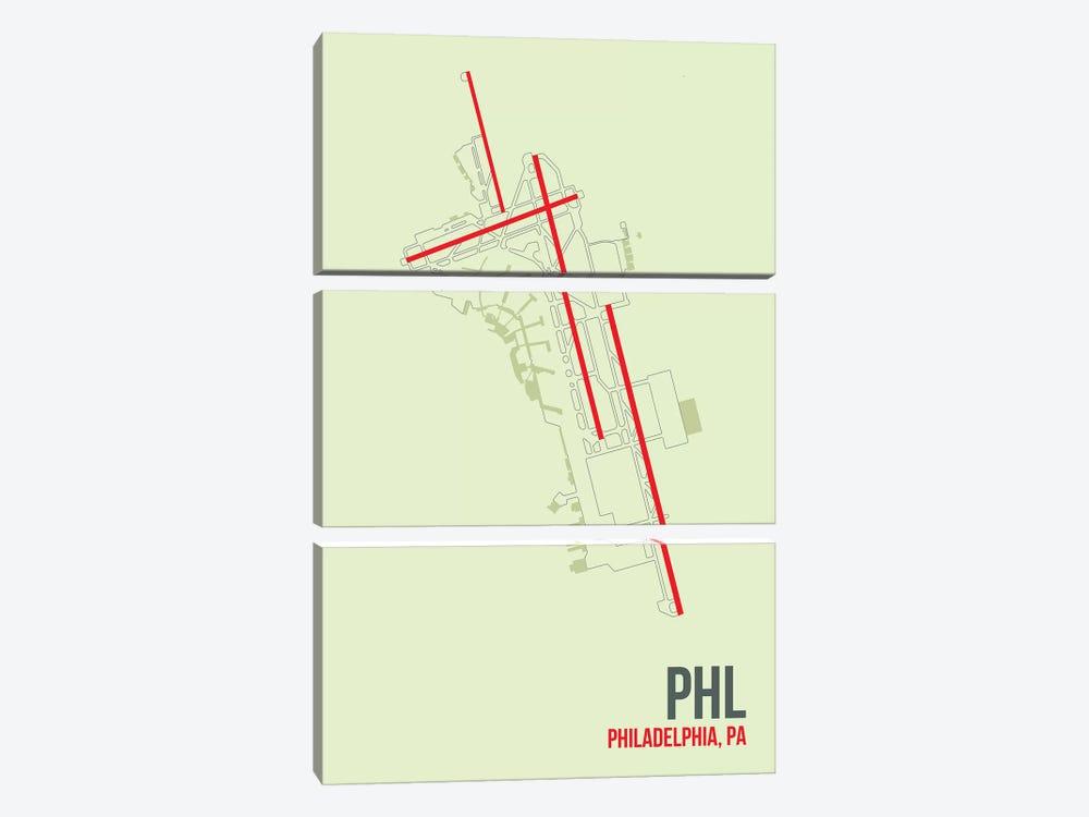 Philadelphia by 08 Left 3-piece Canvas Print