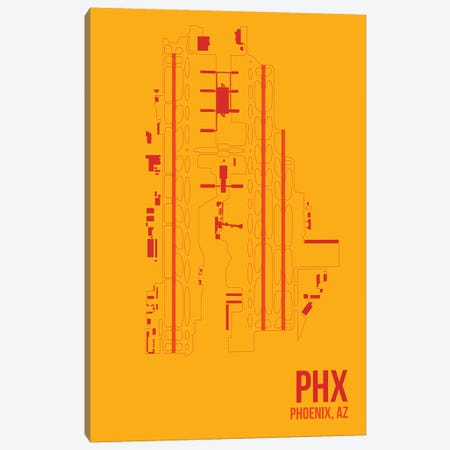 Phoenix Sky Harbor Canvas Print #OET128} by 08 Left Canvas Print
