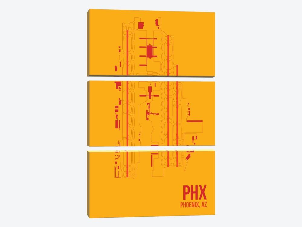 Phoenix Sky Harbor by 08 Left 3-piece Canvas Wall Art