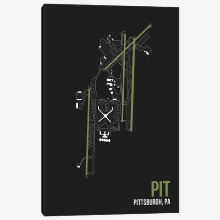 Pittsburgh Canvas Print #OET129} by 08 Left Art Print