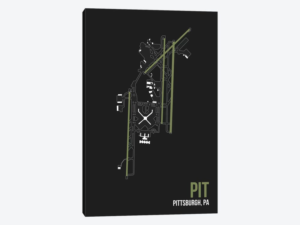 Pittsburgh by 08 Left 1-piece Canvas Print