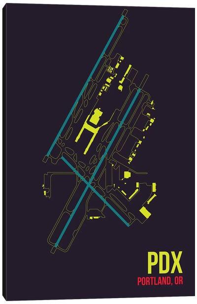 Airport Diagram Series: Portland Canvas Print #OET130