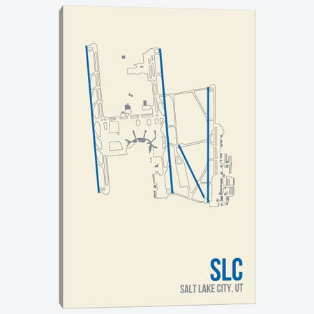 Salt Lake City Canvas Print #OET132} by 08 Left Canvas Art
