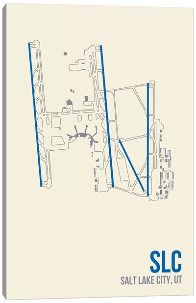 Airport Diagram Series: Salt Lake City Canvas Print #OET132
