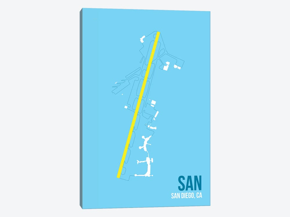 San Diego by 08 Left 1-piece Canvas Print