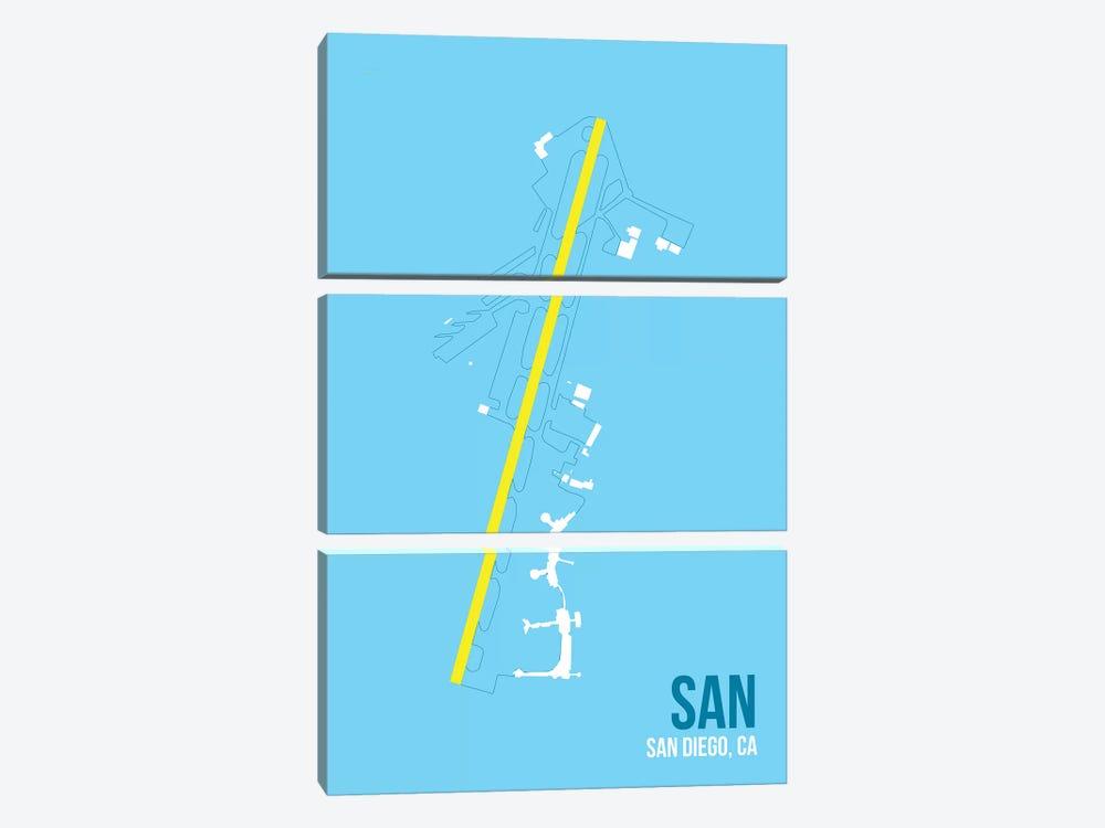 San Diego by 08 Left 3-piece Canvas Print
