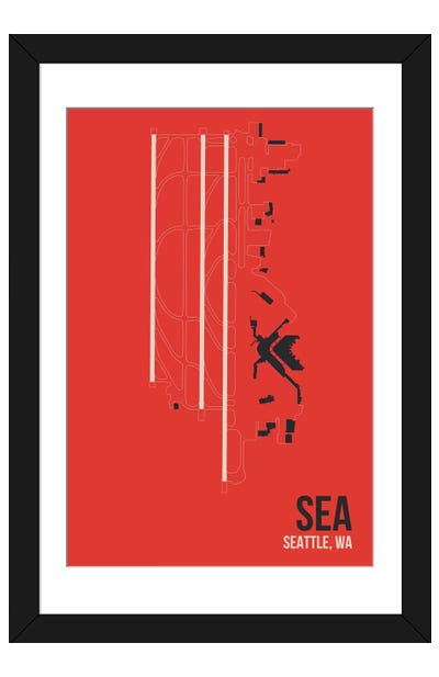 Seattle-Tacoma Framed Art Print