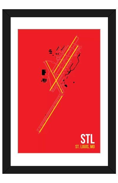 St. Louis Lambert Framed Art Print