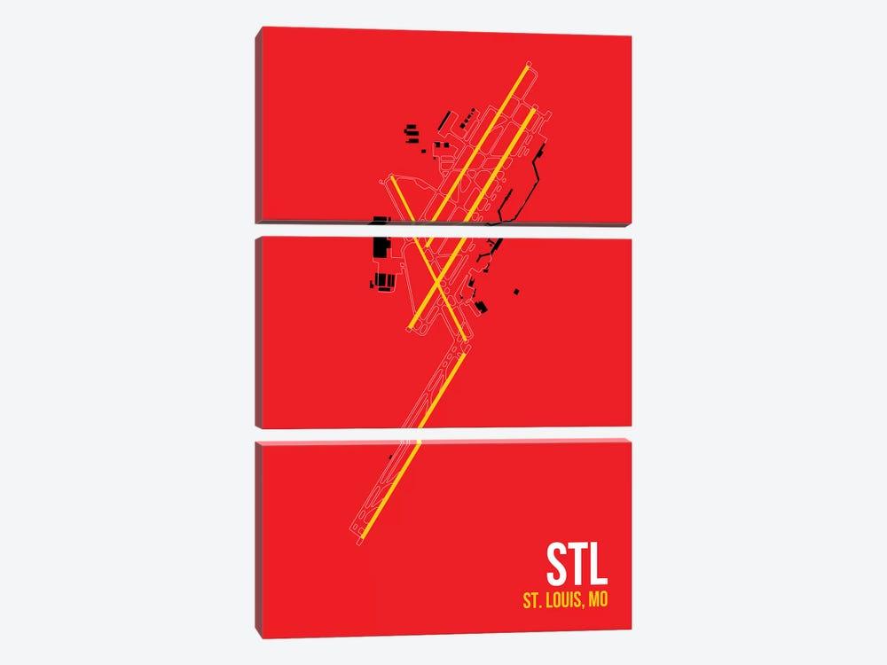 St. Louis Lambert by 08 Left 3-piece Canvas Art