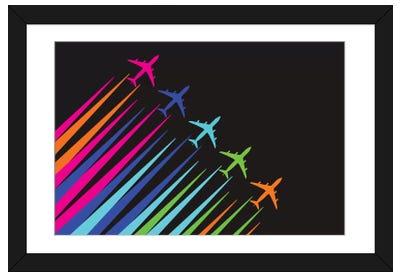 Color Trails Framed Art Print