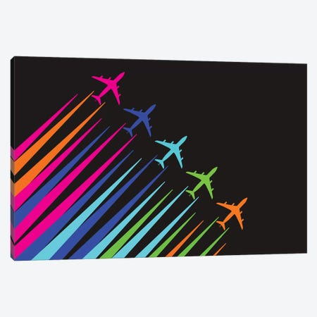 Color Trails Canvas Print #OET145} by 08 Left Canvas Art